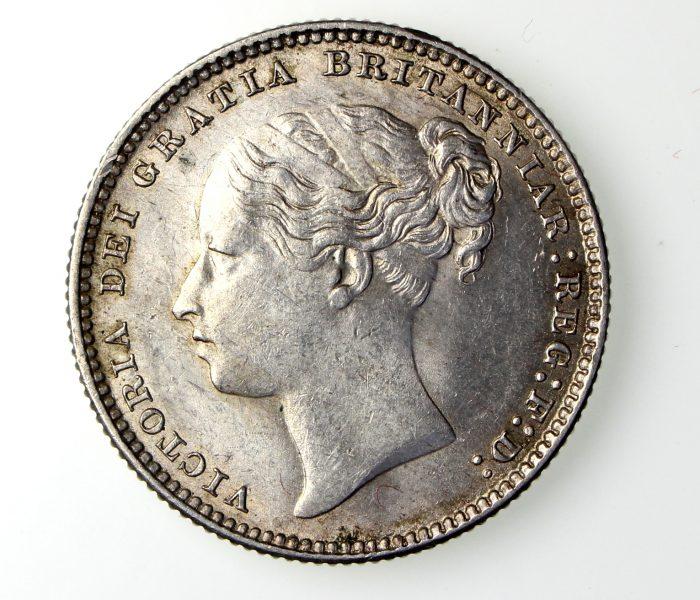 Victoria Silver Shilling 1837-1901AD 1884AD-17096