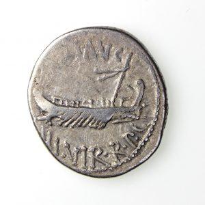 Mark Antony Silver Republican Denarius c.31BC Legion XV-17221