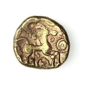 Belgae Gold Stater Cheesefoot Head 60-20BC ext. rare-17287