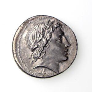 Gargonius Ogulnius M. Vergilius Silver Denarius 86BC ext. rare -17395
