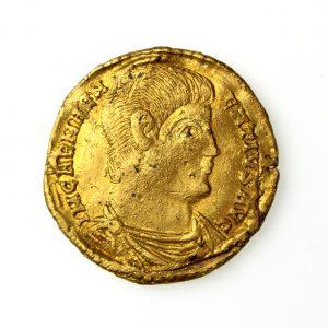 Magnentius Gold Solidus 350-353AD Rare-17710