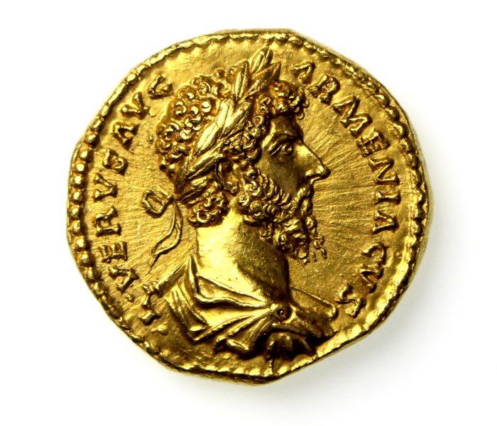 Lucius Verus Gold Aureus 161-169AD Rome -17845