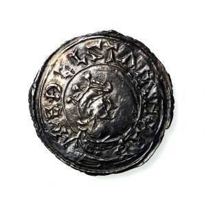 Kings of England Aethelstan Silver Penny 924-939AD Folcred Portrait -17852