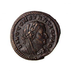 Constantine I Bronze Follis Divus Issue 306-337AD Trier, rare-18301