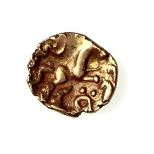 Cantii Gold Quarter Stater Horse Brooch Type 50BC ext. rare-18496
