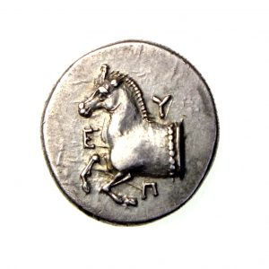 Thrace, Maroneia Silver Drachm 385-360BC Horse /Grapes-18551