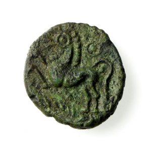 Trinovantes Dubnovellaunos Bronze Unit 5BC-10AD Crescent type rare-18864