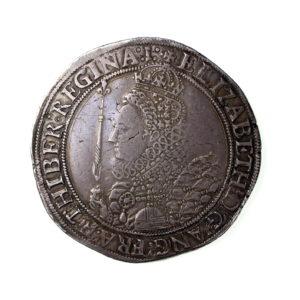 Elizabeth I Silver Crown 7th Issue, mm. 1 1558-1603AD-18990