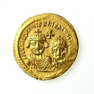 Heraclius & Herac. Constantine Gold Constantine 610-641AD Jerusalem -19002