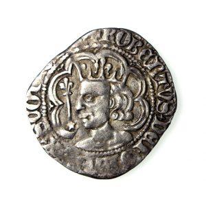 Scotland Robert II Silver Halfgroat 1371-1390AD Perth -19094