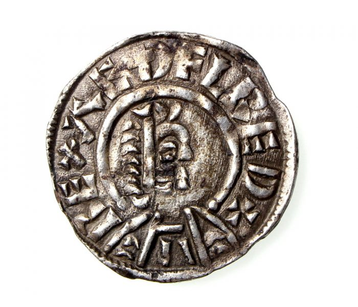 Kings of Wessex Aethelred I Silver Penny 865-871AD-19194