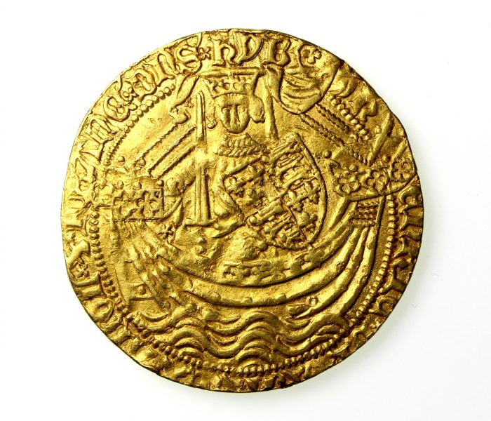Henry V Gold Noble 1413-22AD Series C -19208