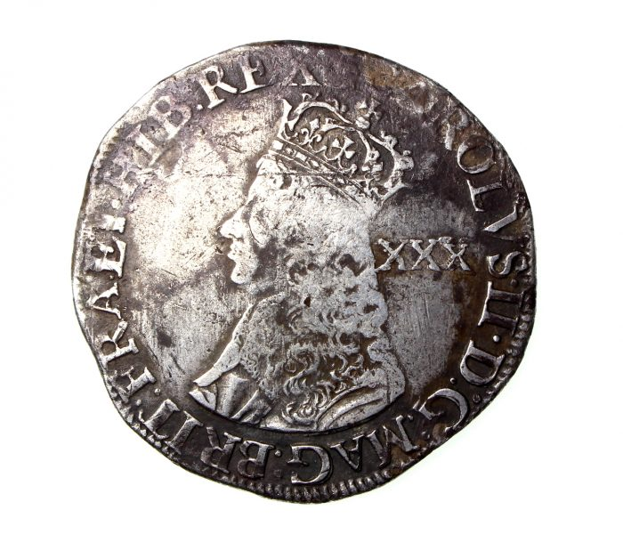 Charles II Silver Halfcrown Second Issue 1660-1685AD-19216