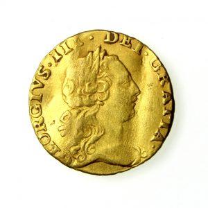 George III Gold Quarter Guinea 1760-1820AD 1762AD-19219