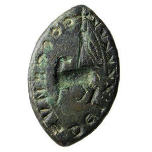 Medieval Vessica Seal Matrix Lamb of God -19417