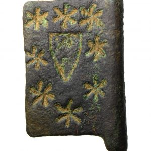 Medieval Heraldic Banner Pendant Shield Surrounded by Stars-19458