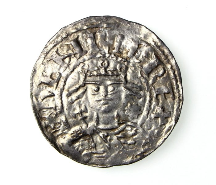 Henry I Silver Penny 1100-1135AD Voided Cross & Fleurs Southwark ext. rare -19497