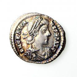 Gratian Silver Siliqua 367-383AD Trier exceptional -19546