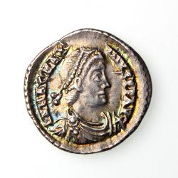 Magnus Maximus Silver Siliqua 385-388AD Trier Exceptional -19576