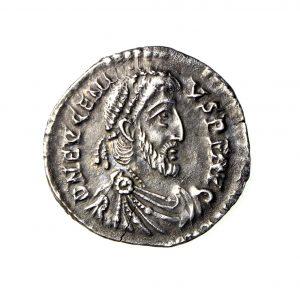 Eugenius Silver Siliqua 392-394AD Trier -19675