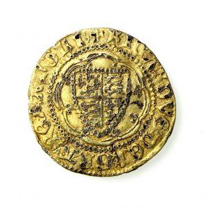 Richard II Gold Quarter Noble Contemporary Imitation 1377-99AD-0
