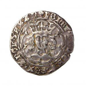 Henry VI Silver Groat Trefoil Issue (Erased) 1422-61AD London -19726