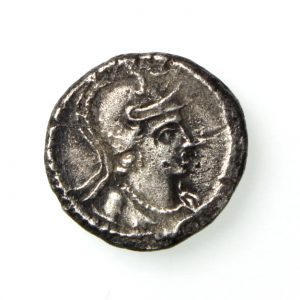 Constantine Period Third Siliqua bust of Roma/P 4th Century AD-19778
