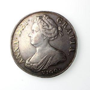 Anne Silver Crown Vigo 1702-14AD 1703AD-19797