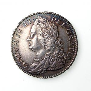 George II Silver Halfcrown 1727-60AD 1745AD-19811