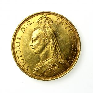Victoria Gold Two Pound 1837-1901AD 1887AD-19815