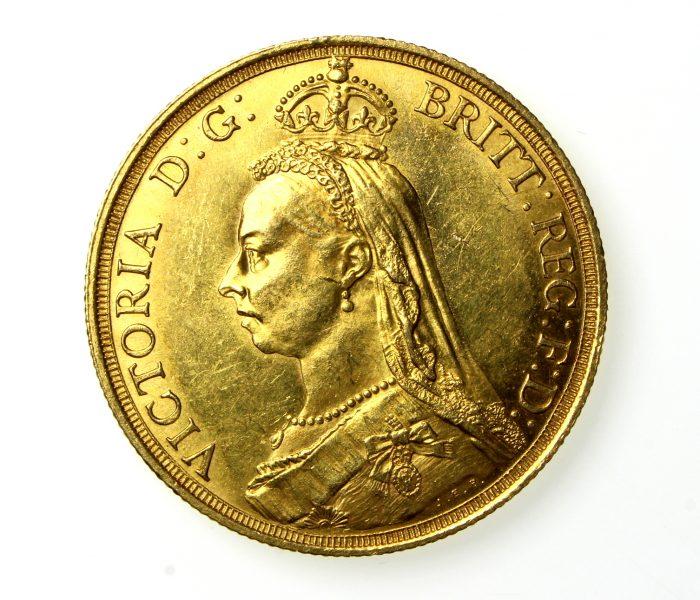 Victoria Gold Two Pound 1837-1901AD 1887AD-19815