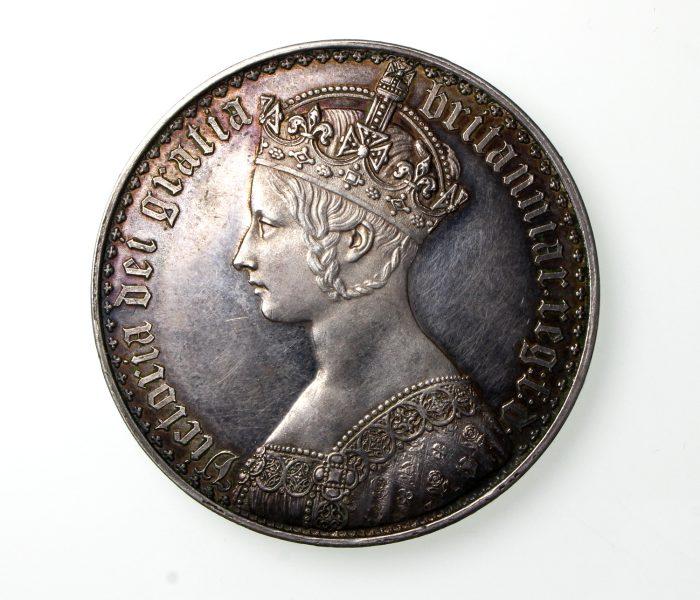 Victoria Silver Gothic Crown 1837-1901AD 1847AD GEF-19818