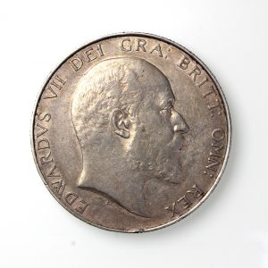 Edward VII Silver Crown 1901-10AD 1903AD Rare-19839