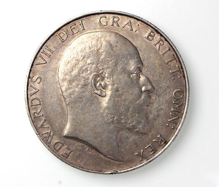Edward VII Silver Crown 1901-10AD 1903AD Rare-19839