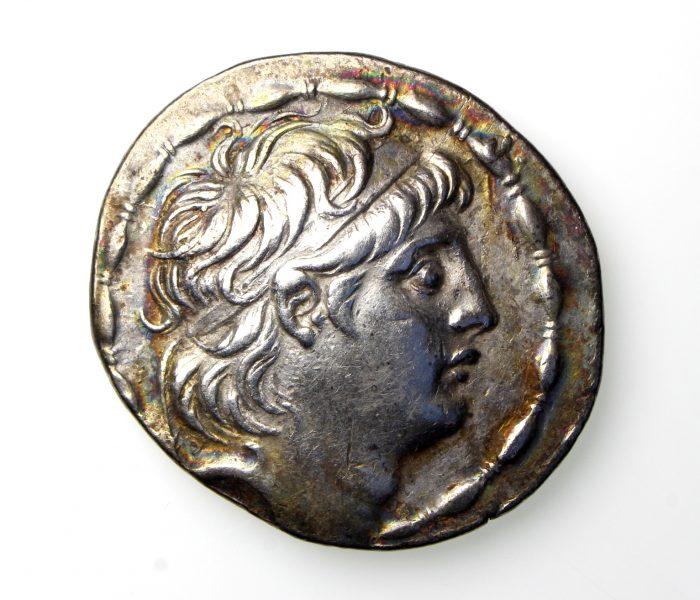 SELEUKID EMPIRE Antiochos VII Euergetes 138-129BC Silver Tetradrachm Antioch mint -19938