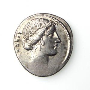 M. Junius Brutus Silver Denarius 54BC-20117